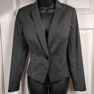 NWT! Worthington Black Grey Blazer 10P